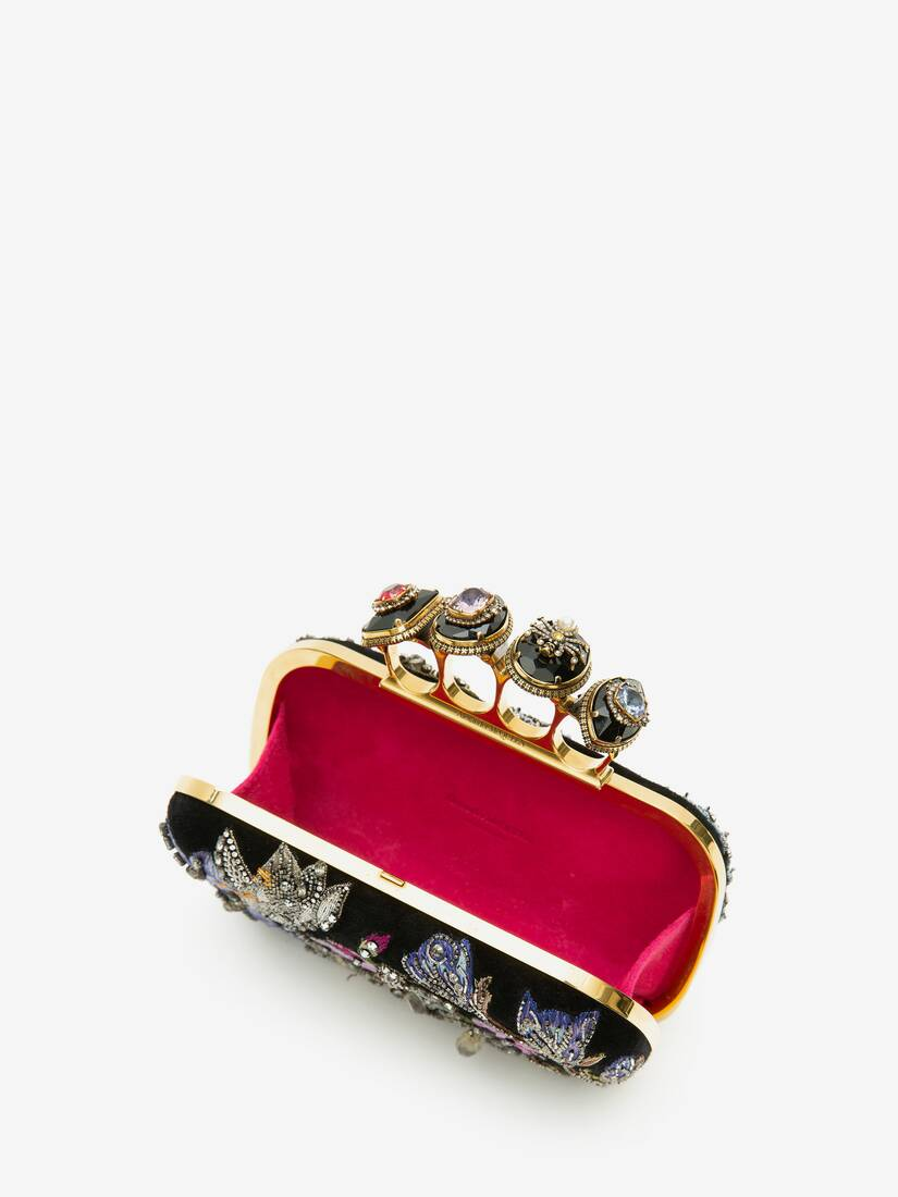 Display a large version of the product image 4 - Spider Jewelled Four Ring Box Clutch