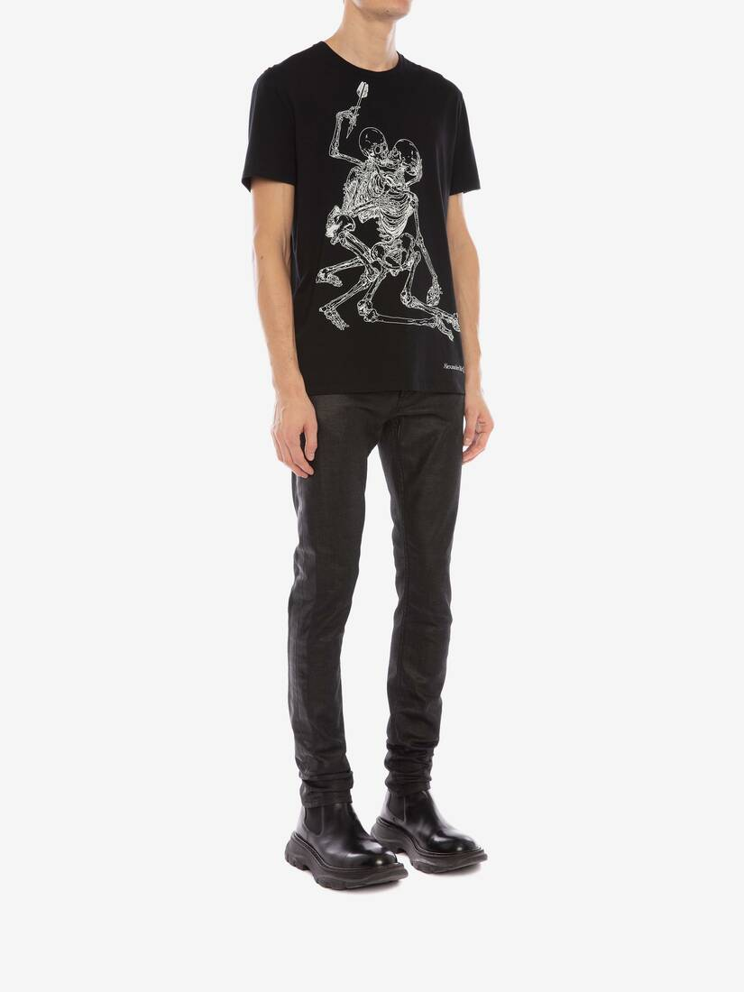 Display a large version of the product image 3 - Lovers Skeleton T-Shirt