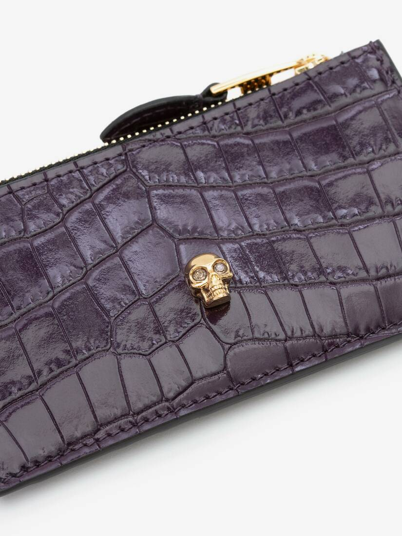 Display a large version of the product image 5 - Skull Zip Card Holder