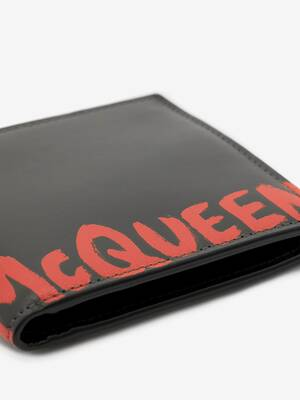 McQueen Graffiti Billfold Wallet