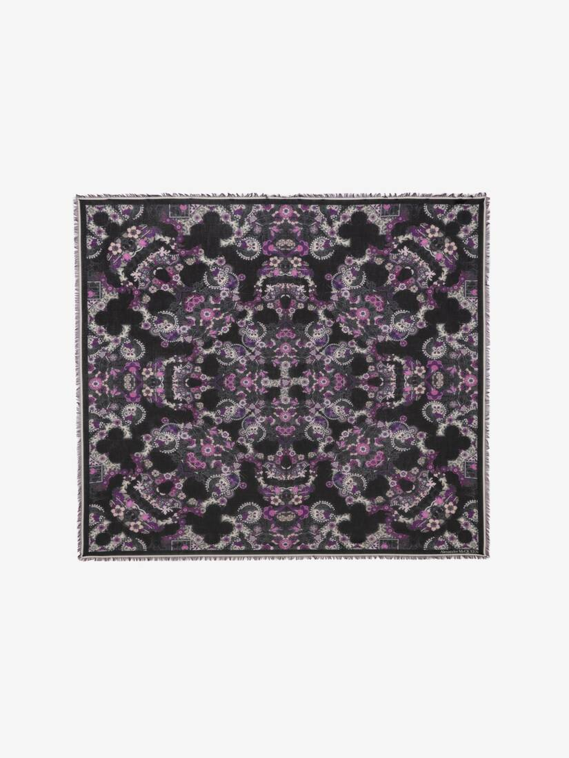 Display a large version of the product image 1 - Art Nouveau Skull Pashmina