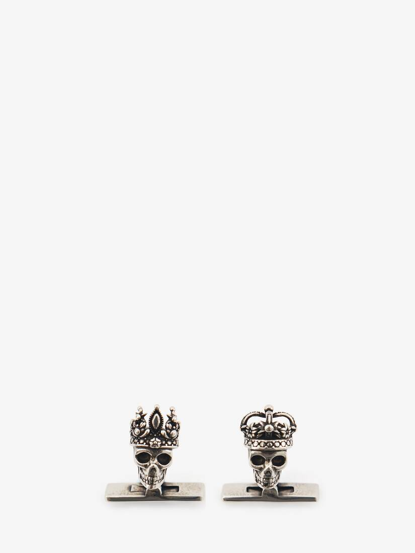 "Display a large version of the product image 1 - ""Queen and King"" Skull Cufflinks"