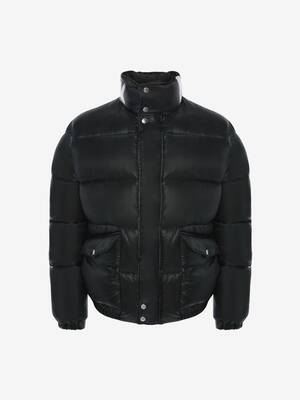 McQueen Graffiti Puffer Jacket
