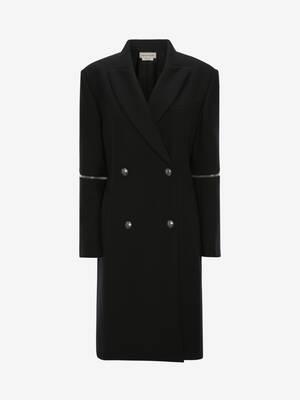 Spiral Zip Oversize Coat