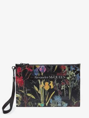 Pochette Piatta Deconstructed Floral con Zip