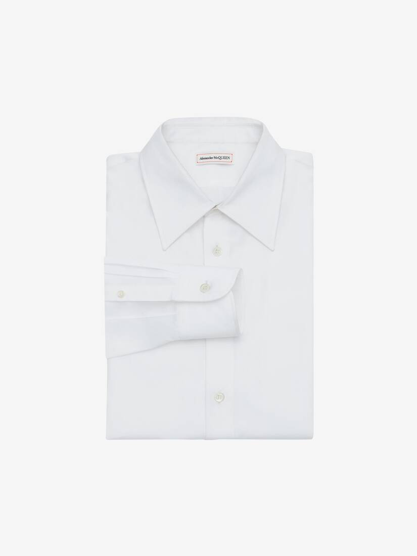 Display a large version of the product image 1 - Pointy Collar Cotton Poplin Shirt