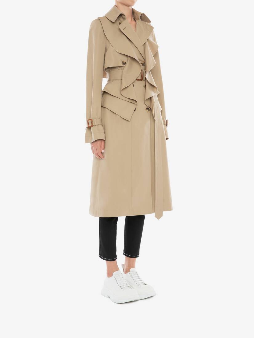 Display a large version of the product image 3 - Trenchcoat mit Schößchen