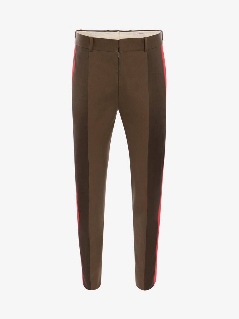 Display a large version of the product image 1 - Tailored Panelled Sateen Trousers