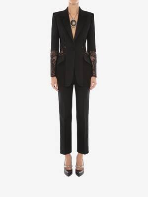 Light Wool Silk Lace Jacket