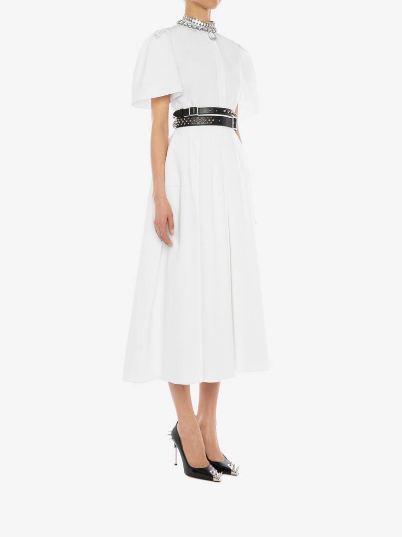 Display a large version of the product image 3 - Cotton Piquet  Midi Dress