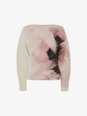 Anemone print jumper