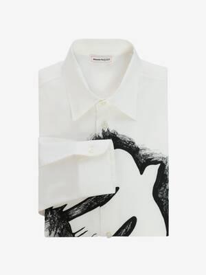 Dove Lace Print Shirt