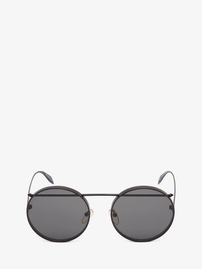 Piercing Round Metal Sunglasses