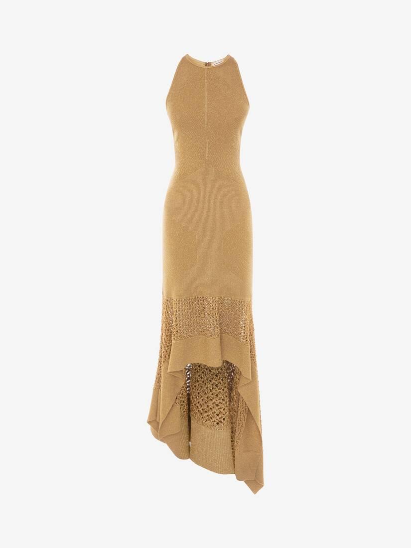 Mesh Knit Midi Dress