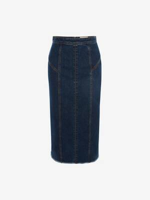 Kickback Denim Pencil Skirt