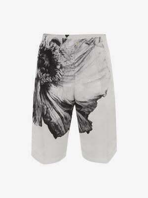 Flower Print Polyfaille Shorts