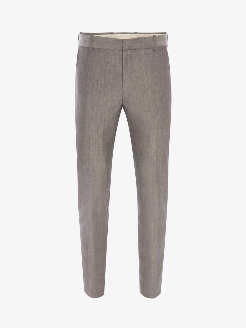 Display a large version of the product image 1 - McQueen Classic Shark Wool Mohair Trousers