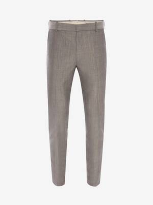 McQueen Classic Shark Wool Mohair Trousers