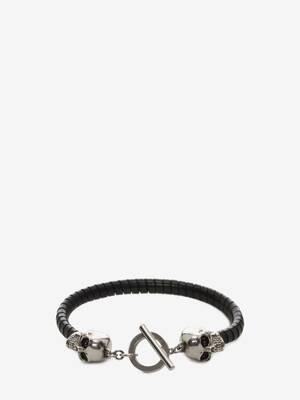 Bracelet en cuir Skull