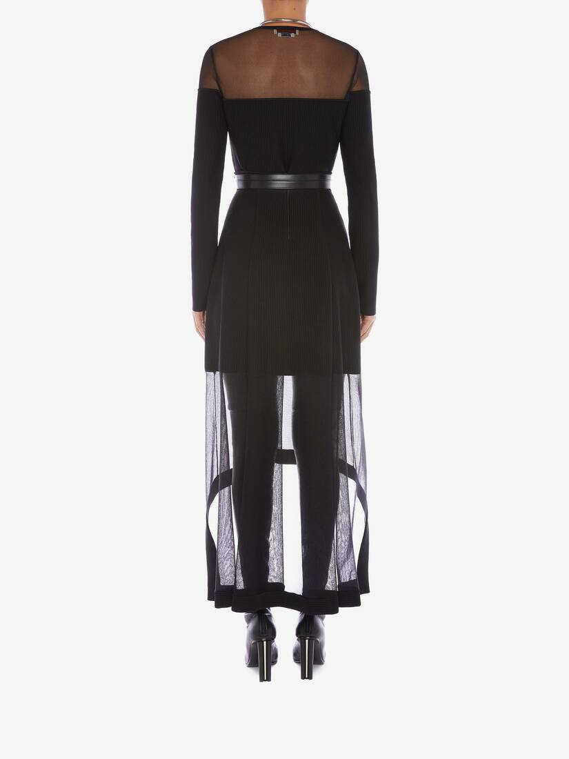 Display a large version of the product image 4 - Engineered Ribbed Knit Midi Skirt