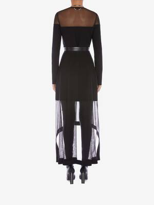 Engineered Rib Knit Midi Skirt