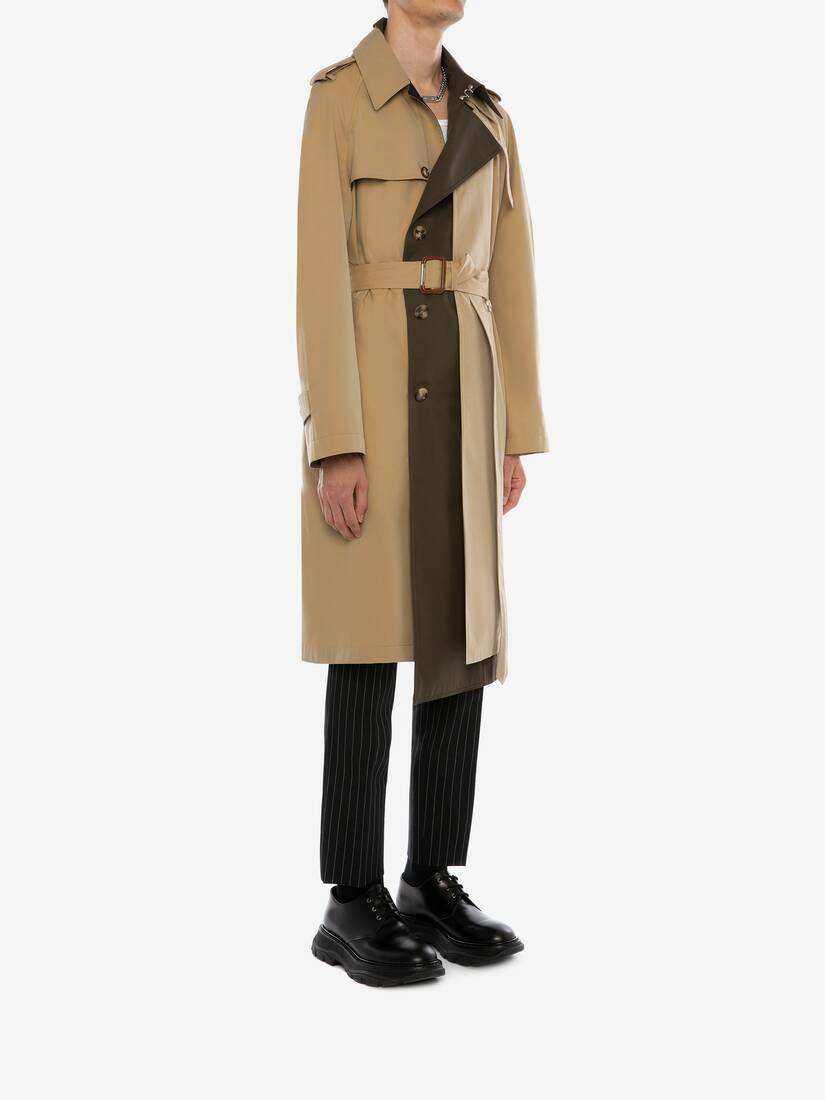 Display a large version of the product image 3 - Trompe-l'œil Layered Trench Coat