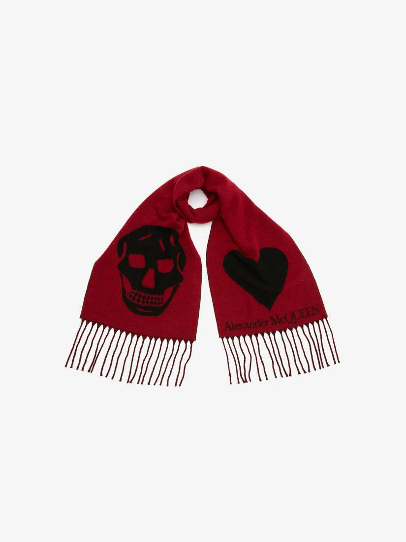Display a large version of the product image 3 - Skull and Heart Scarf