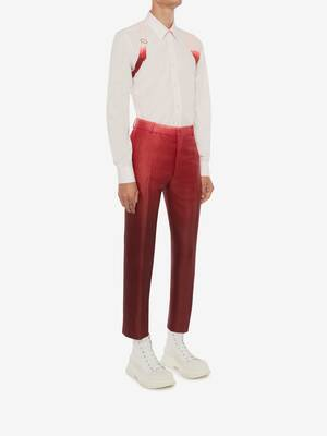 Dip Dye Printed Cigarette Trousers