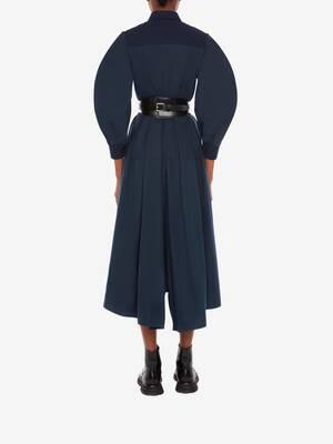 Cotton Poplin Harness Midi Dress