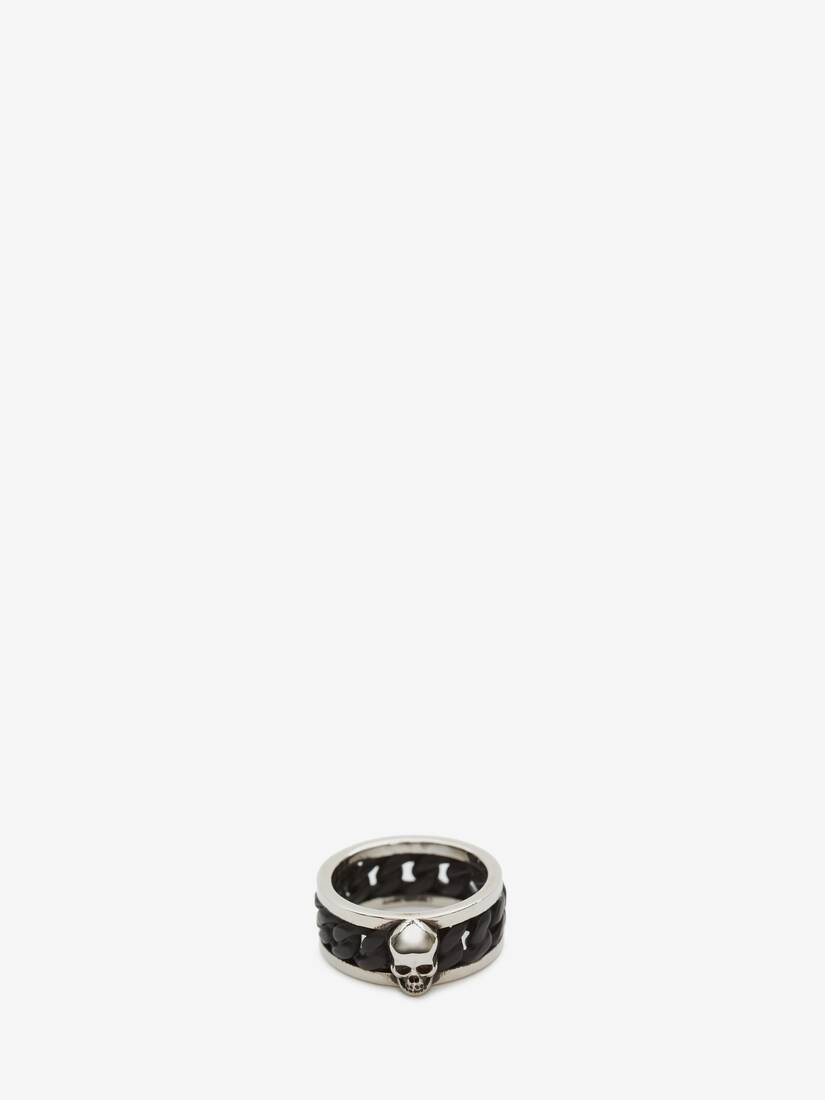 Display a large version of the product image 3 - Bi-Colour Skull Chain Ring