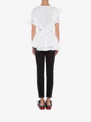 Peplum Ruffle T-Shirt