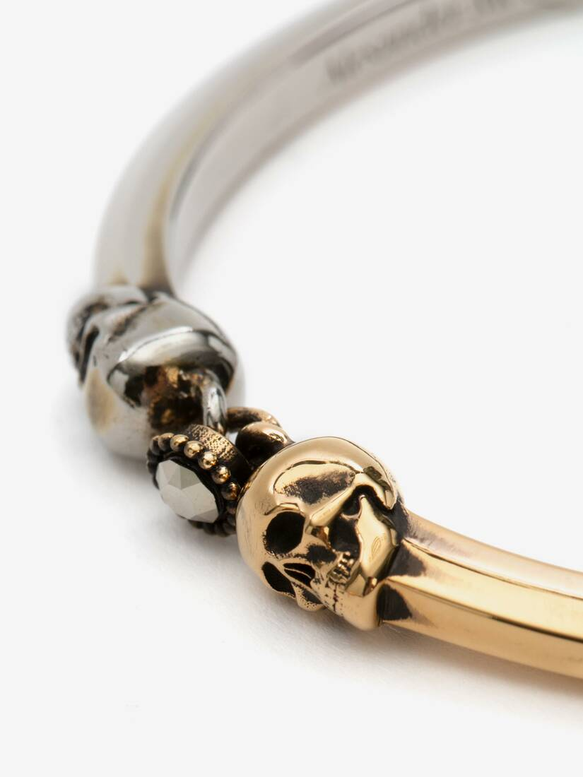 Display a large version of the product image 3 - Bi-Colour Skull Bracelet