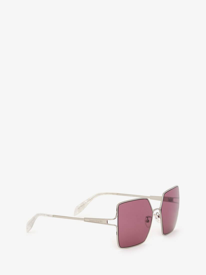 Display a large version of the product image 3 - Metal Sculpted Square Sunglasses