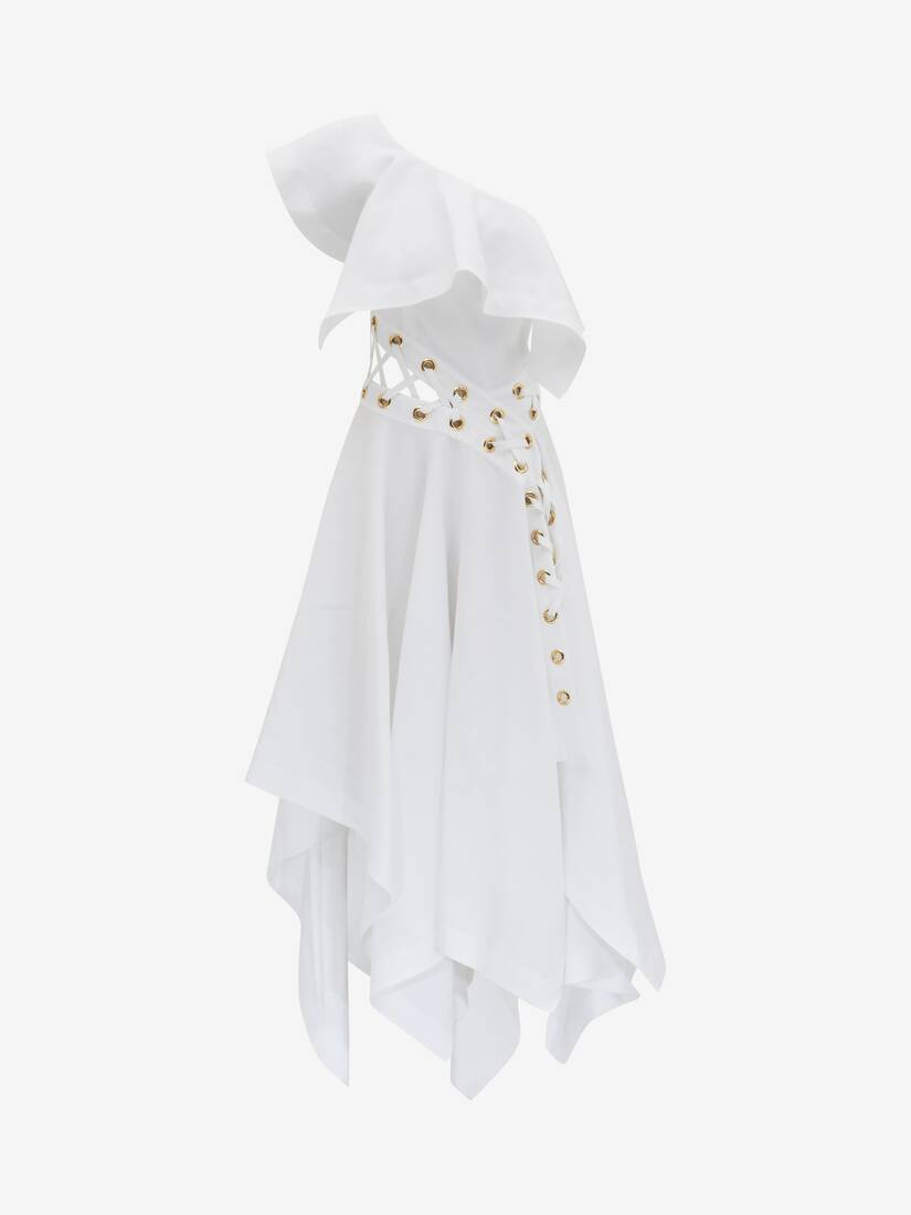 Display a large version of the product image 1 - Eyelet Slash Ruffle Dress