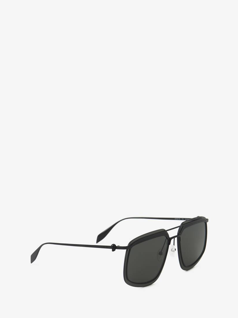 Display a large version of the product image 3 - Metal Frame Square Sunglasses