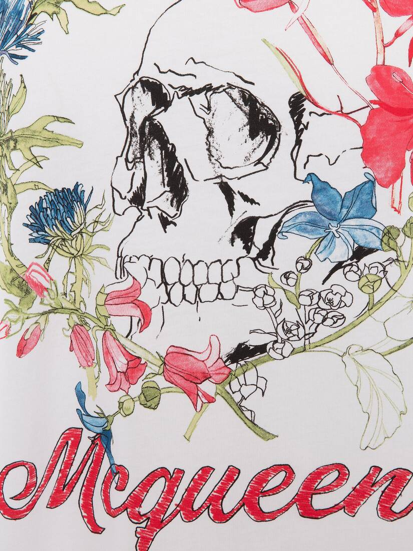 Display a large version of the product image 5 - Deconstructed Floral Skull T-Shirt