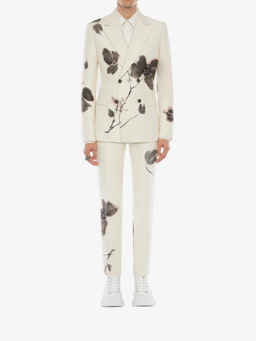Camo Ink Floral Jacquard Trousers