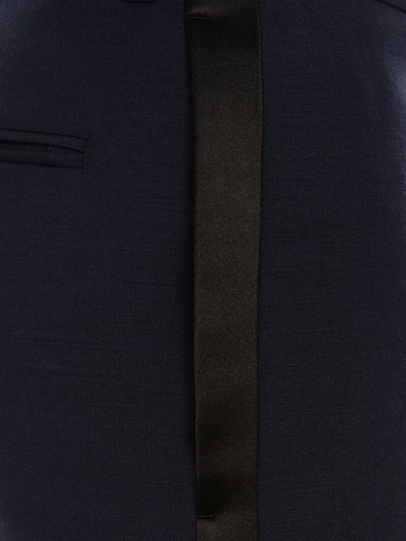 Display a large version of the product image 5 - Wool Mohair Tuxedo Trousers