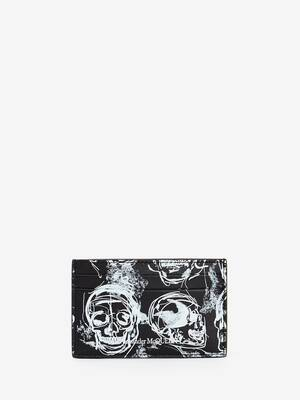 Painted Skull Card Holder