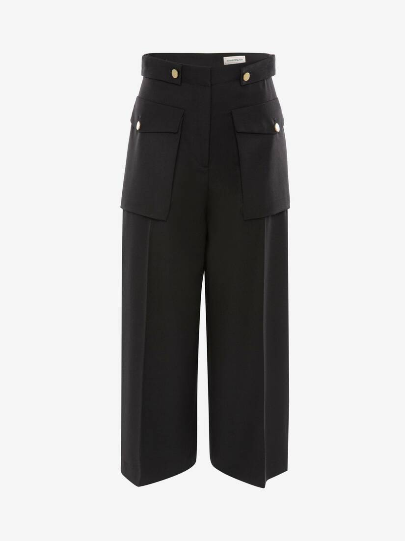 Display a large version of the product image 1 - Military Wide Leg Trouser