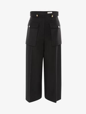 Military Wide Leg Trouser