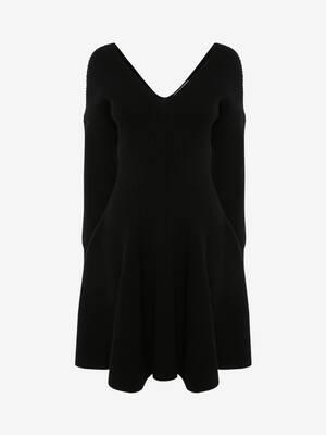 Off-The-Shoulder Knit Mini Dress