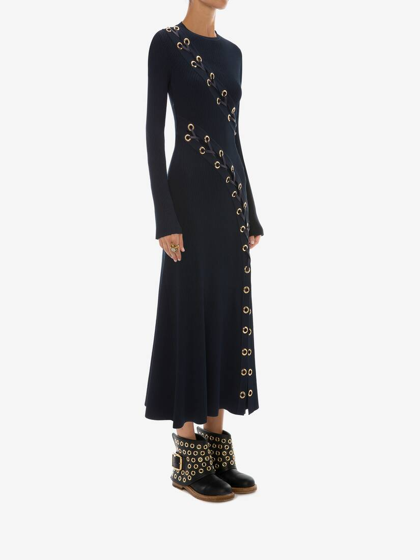 Display a large version of the product image 3 - Eyelet Knitted Midi Dress