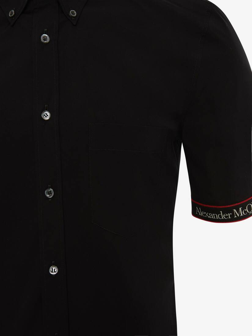 Chemise Brad Pitt à bande logo