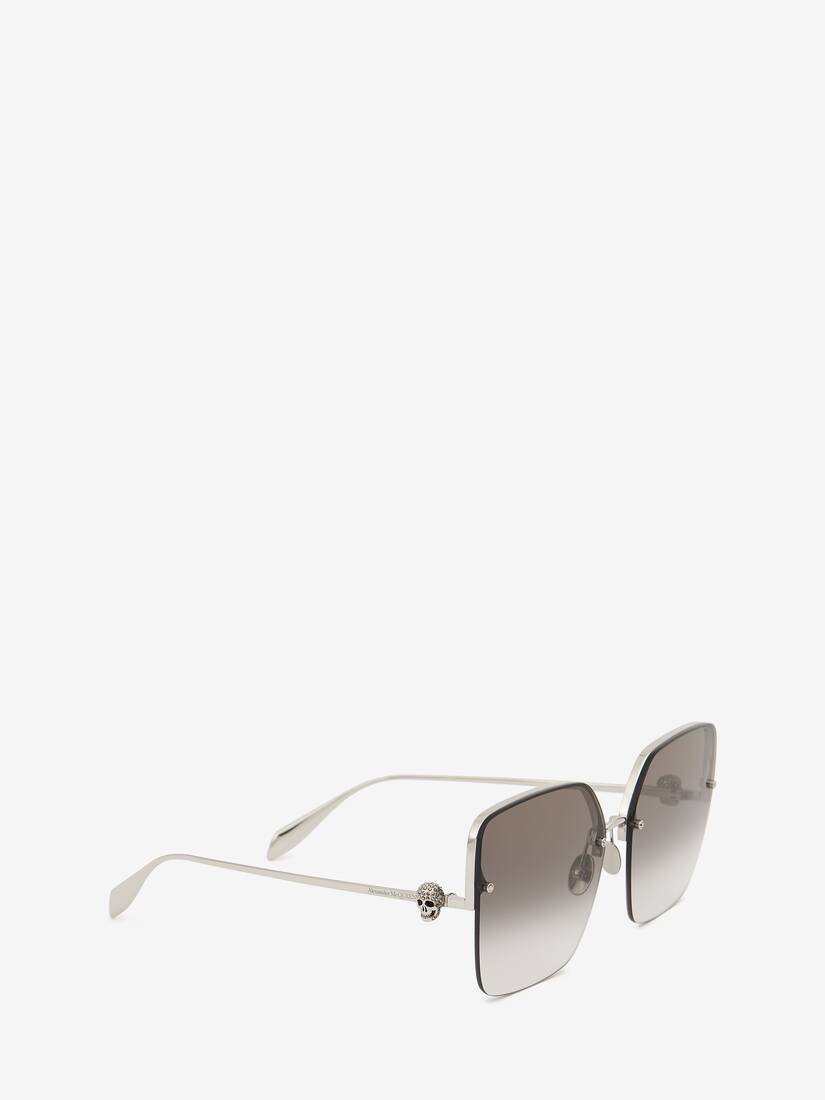 Display a large version of the product image 3 - Skull Jewelled Square Sunglasses