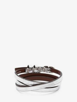 Bracelet multitour en cuir