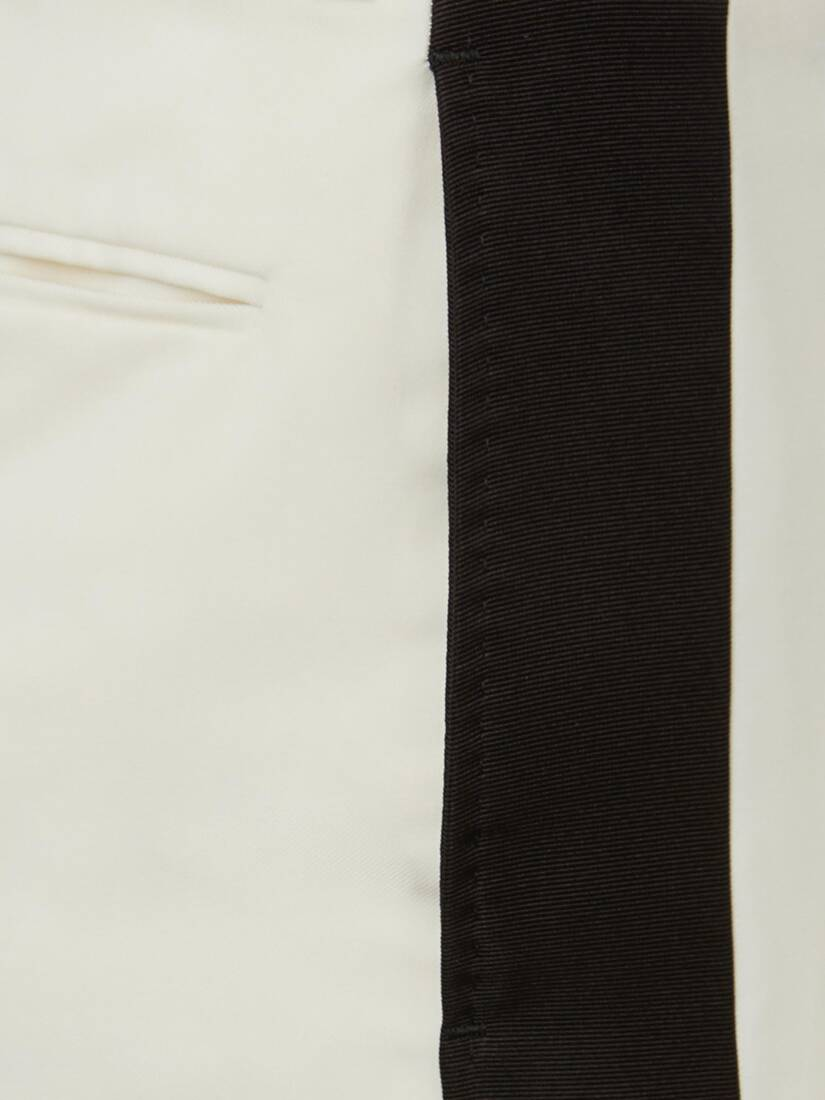 Wool Gabardine Tuxedo Trousers