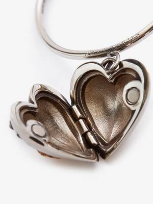 Heart Locket Hoop Earrings