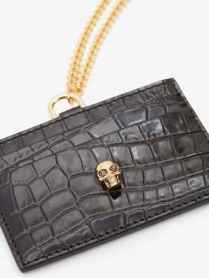 Skull Card Holder with Strap