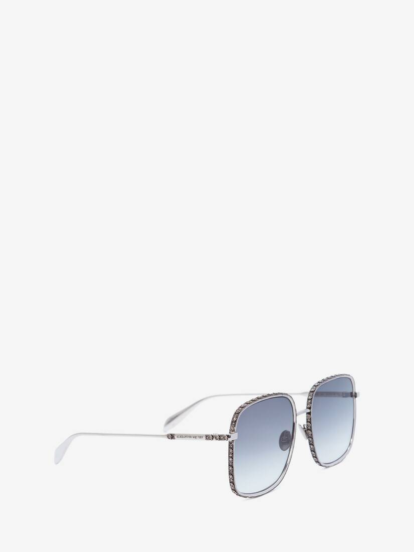 Display a large version of the product image 3 - Jewelled Square Sunglasses